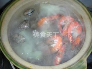 海鲜冬瓜汤(汤羹)的图解制作