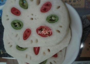 五彩藕片泡菜的手工做法(農產加工)