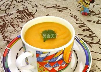 圖文演示:南瓜山藥奶羹的家廚做法