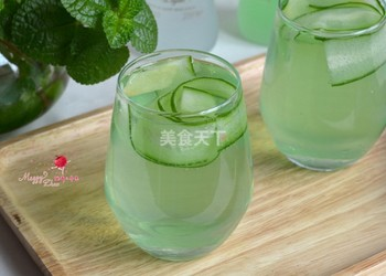 姜瓜清飲雞尾酒(飲料)的自制教程
