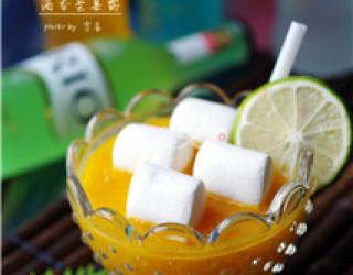 圖示:酒香芒果露的自制做法