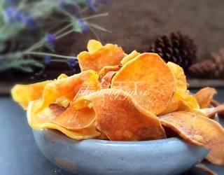 自制零食(圖解):炸紅薯片的做法