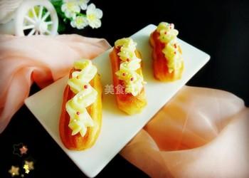 圖文:蛋奶醬閃電泡芙的自制做法