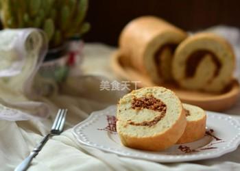 """如何做烘焙食品""""肉松蛋糕卷""""【圖文】"""