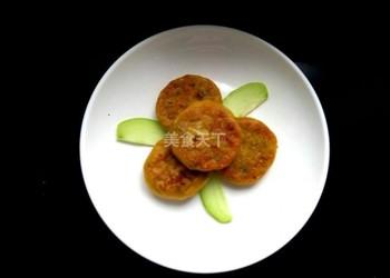 蜜豆南瓜餅的圖示手工制作