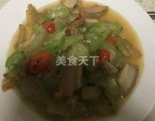 絲瓜炒肉的手工制作(圖示教材)