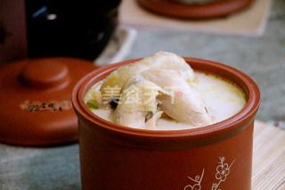 图解:豆浆煲鸡(汤羹)的厨艺做法