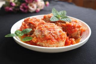 图解:茄汁狮子头的厨房烹制方法