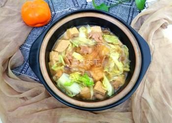 白菜肉片粉條凍豆腐的圖示烹制方法