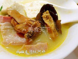 图文教材:咸肉河蚌炖豆腐的厨房做法
