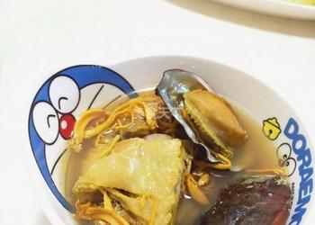 鮑魚土雞湯的自制做法(湯羹)