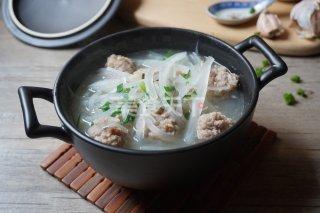 (圖示)蘿卜絲肉丸湯的自制教程