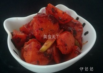 美食厨艺:回锅胡萝卜的图示做法