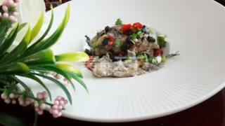 圖示:豆豉蒸帶魚的廚房自制做法