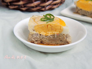 农家美食:藕饼蒸蛋的手工做法(图解)