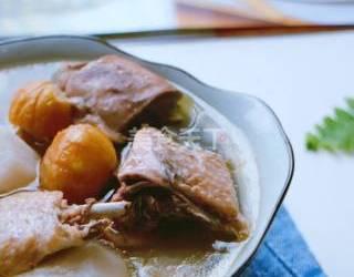 (农家菜)山药板栗炖土鸡的手工厨艺制作