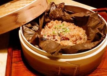 荷葉排骨糯米飯的手工做法(圖解)