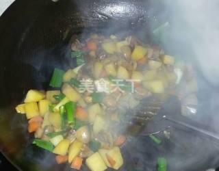 图文:自制土豆炖蘑菇的手工教材