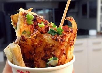 主食:土家醬香餅的圖示做法