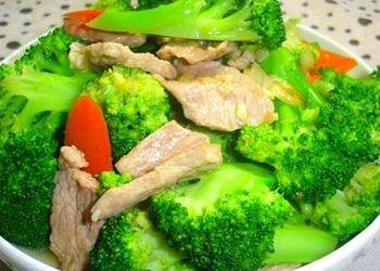 西蘭花炒肉的廚藝做法大全(肉品菜譜)