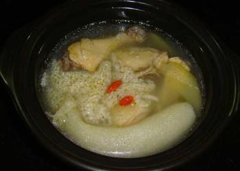 菜譜:竹蓀燉雞湯的廚藝做法大全