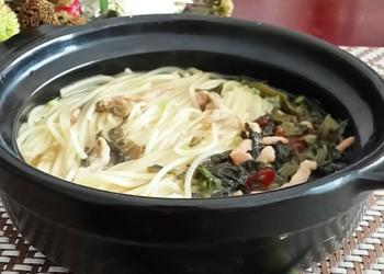 主食:酸菜肉絲面的圖解做法