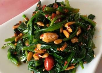 紅油菠菜的廚房做法(圖文)