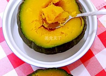 微波爐烤南瓜的手工做法(圖示)