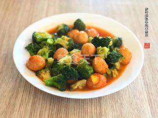 茄汁鵪鶉蛋燒西蘭花的圖解演示制作