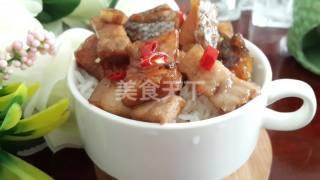 (圖解)咸魚蒸五花肉的手工制作