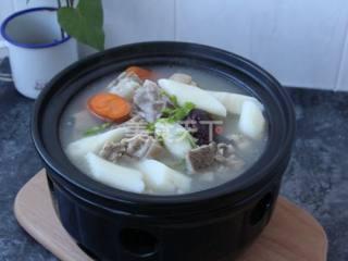 山藥羊排湯的手工教程(圖示)