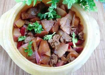 羊肉炖萝卜的烹制方法(图示做法)