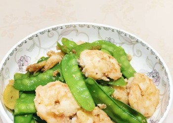 圖文:蝦球四季豆的廚房手工烹制
