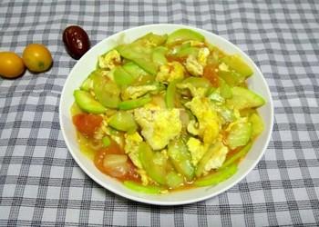 西葫炒雞蛋的烹制做法(圖文)