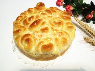 玫瑰花面包的图文演示做法
