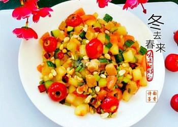 圖示:冬去春來(蔬菜肉丁)的手工烹制法