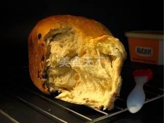 圖示流程:面包機版蔓越莓面包的手工做法
