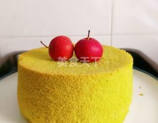 烘焙:菠菜戚风蛋糕的图解手工制作