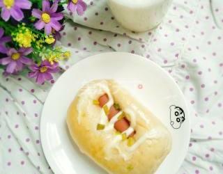 圖示流程:腸仔面包的手工做法