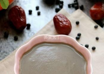 紅棗黑豆豆漿的手工做法(圖示流程)