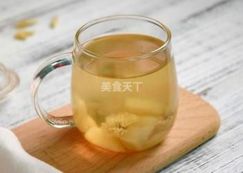 (圖示流程)雪梨麥冬菊花茶的手工做法
