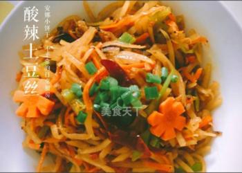 酸辣土豆丝的家常做法【图文教材】