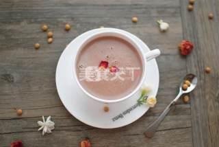 自制饮品:玫瑰茉莉豆浆的做法
