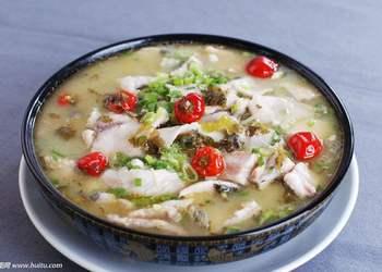 圖示:家常酸菜魚的廚房烹制方法